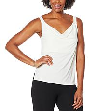 """""""As Is"""" Colleen Lopez Crepe Cowl-Neck Cami"""