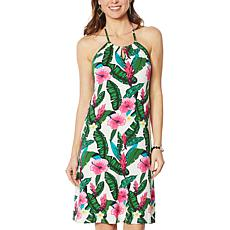 """As Is"" Colleen Lopez Floral Print Halter Dress"