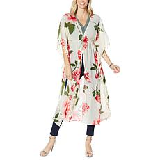 """As Is"" Colleen Lopez Floral Tassel Duster"