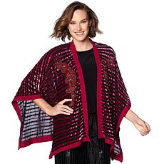 """As Is"" Colleen Lopez Lavish Layer Embellished Burnout Topper"