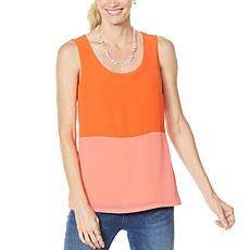 """As Is"" Colleen Lopez Mixed Media Colorblock Tank"