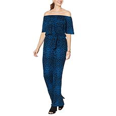 """""""As Is"""" Colleen Lopez Off-the-Shoulder Wide-Leg Jumpsuit"""