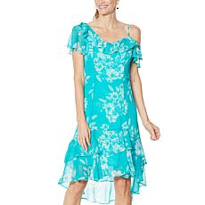 """""""As Is"""" Colleen Lopez One Shoulder Ruffle Dress"""