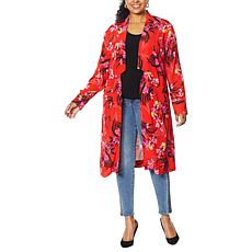 """As Is"" Colleen Lopez Open Front Blazer Cardigan with Pockets"