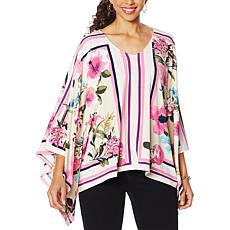 """As Is"" Colleen Lopez Printed Butterfly Top"