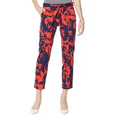 """As Is"" Colleen Lopez Printed Slim Fit Cargo Pant"