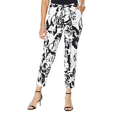 """""""As Is"""" Colleen Lopez Printed Slim Fit Cargo Pant"""