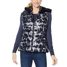 """As Is"" Colleen Lopez Puffer Vest with Detachable Hood"
