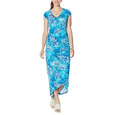 """""""As Is"""" Colleen Lopez Shirred Maxi Dress"""