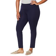 """""""As Is"""" Colleen Lopez Skinny Ponte Pant with Power Mesh Panel"""