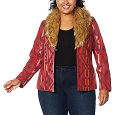 """""""As Is"""" Colleen Lopez Wool-Blend Coat with Faux Fur Collar"""