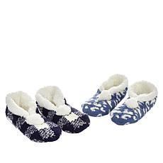 """""""As Is"""" Comfort Code 2-pack faux Sherpa-Lined Slippers"""