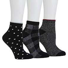 """""""As Is"""" Comfort Code 3-pack Terry Knit Anklet Lounge Socks"""