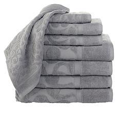 """As Is"" Concierge Collection 8-Piece 100% Turkish Cotton Jacquard T..."