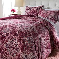 """As Is"" Concierge Collection Printed Velvet Comforter Set - Full/Queen"