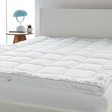 """As Is"" Concierge Collection Ultra Loft Zip-Off Mattress Topper"