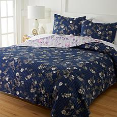 """As Is"" Cottage Collection 100% Cotton Stitched 3-pc Quilt Set - In..."