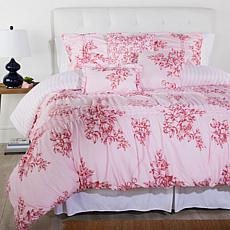 """As Is"" Cottage Collection Printed Ruffle 6-piece Comforter Set - P..."