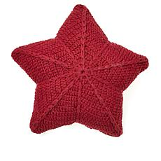 """""""As Is"""" Country Living Home Collection 100% Cotton Crochet Star Pillow"""