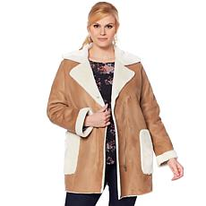 """""""As Is"""" Curations Faux Suede and Faux Fur Coat"""