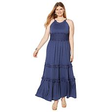 """""""As Is"""" Curations Maxi Dress with Lace Trim"""