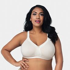 """As Is"" Curvy Couture Cotton Luxe Wire-Free Bra"