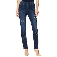 """""""As Is"""" DG2 by Diane Gilman Classic Stretch Embellished Destructed ..."""