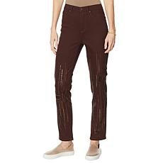 """""""As Is"""" DG2 by Diane Gilman Classic Stretch Sequin Skinny Jean  - F..."""