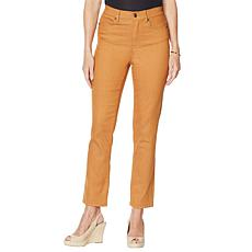 """""""As Is"""" DG2 by Diane Gilman Classic Stretch Straight Ankle Jean - F..."""