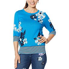 """""""As Is"""" DG2 by Diane Gilman Daisy Sweater Knit Top"""