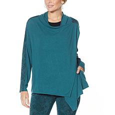 """""""As Is"""" DG2 by Diane Gilman Eco-Ponte Knit Drape Front Easy Jacket"""