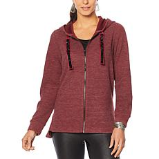 """""""As Is"""" DG2 by Diane Gilman Holiday Knit Hoodie"""