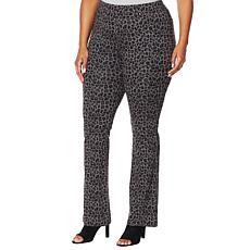 """""""As Is"""" DG2 by Diane Gilman Pull-On Stretch Ponte Boot-Cut Pant - P..."""