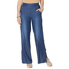 """""""As Is"""" DG2 by Diane Gilman SoftCell Side Slit Pull-On Pant - Basic"""