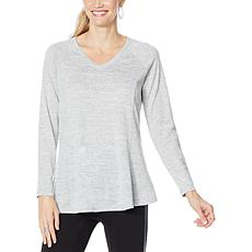 """As Is"" DG2 by Diane Gilman V-Neck Raglan Pullover Sweater"