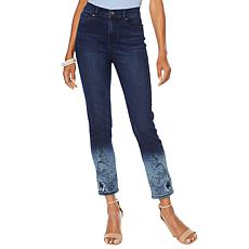 """As Is"" DG2 by Diane Gilman Virtual Stretch Bleach Dipped Skinny Cr..."