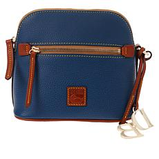 """As Is"" Dooney & Bourke Pebble Leather Domed Crossbody"