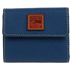 """As Is"" Dooney & Bourke Pebble Leather Small Flap Wallet"