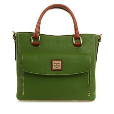 """As Is"" Dooney & Bourke Pebbled Leather Medium Pocket Satchel"