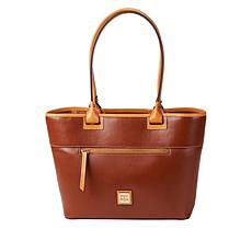 """As Is"" Dooney & Bourke Wexford Leather Zip Tote - Core"