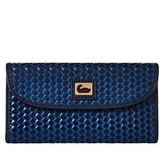 """As Is"" Dooney & Bourke Woven Leather Continental Clutch"