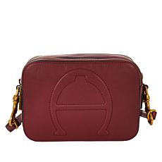 """""""As Is"""" Etienne Aigner Adeline Leather Camera Crossbody Bag"""