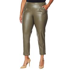 """As Is"" G by Giuliana Black Label Faux Leather Pant"