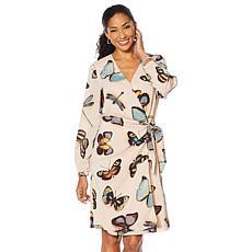 """As Is"" G by Giuliana Butterfly-Print Wrap Dress"