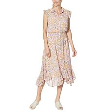"""""""As Is"""" G by Giuliana Button-Front Chiffon Duster with Tank Dress"""