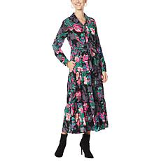 """""""As Is"""" G by Giuliana Button-Front Tiered Shirt Dress"""