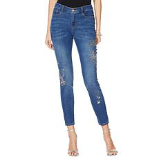 """As Is"" G by Giuliana Downtown Denim Embellished Skinny Jean"