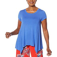 """As Is"" G by Giuliana Fit and Flare Tee with Seaming"