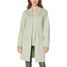 """""""As Is"""" G by Giuliana Jacquard Sweater Knit Duster Cardigan"""