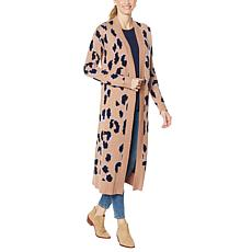 """As Is"" G by Giuliana Leopard Long Cardigan"